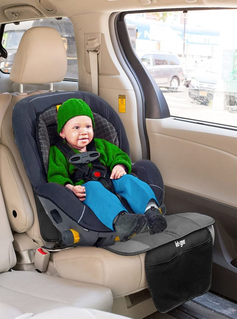 Best for toddlers Lebogner Car Seat Protector and Backseat Organizer